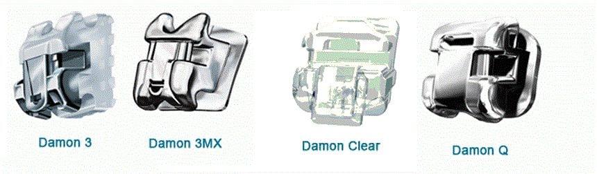 Линейка моделей брекетов Damon