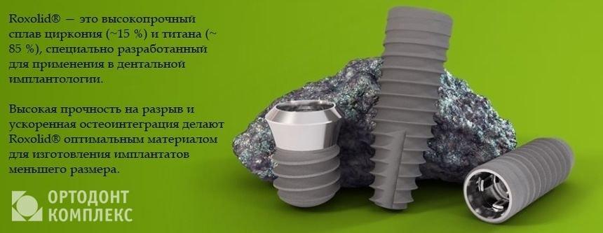 Использование материала материал Roxolid в имплантах Штрауманн