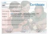 Сертификат о прохождении курса повышения квалификации врачом-ортодонтом Озерковой Ириной Игоревной