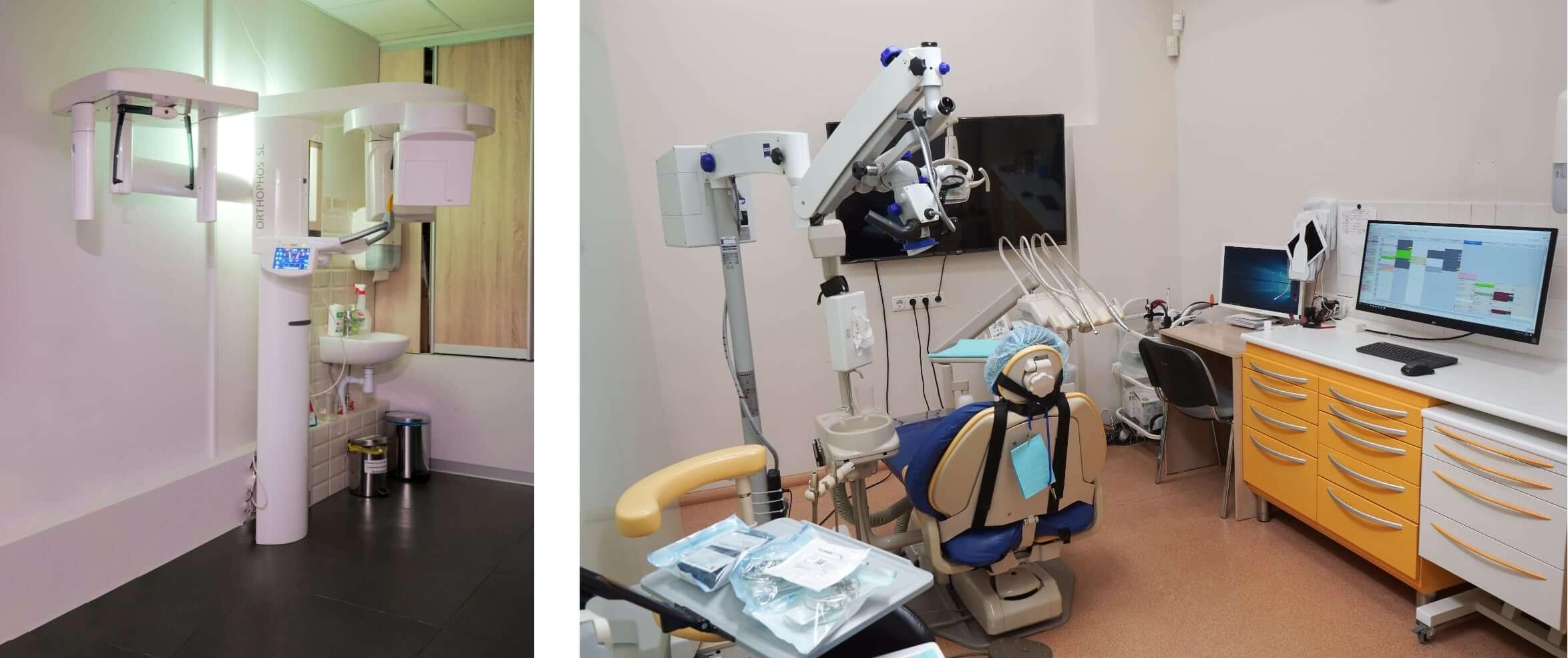 Компьютерный томограф Sirona и микроскоп Carl Zeiss в клинике Ортодонт Комплекс